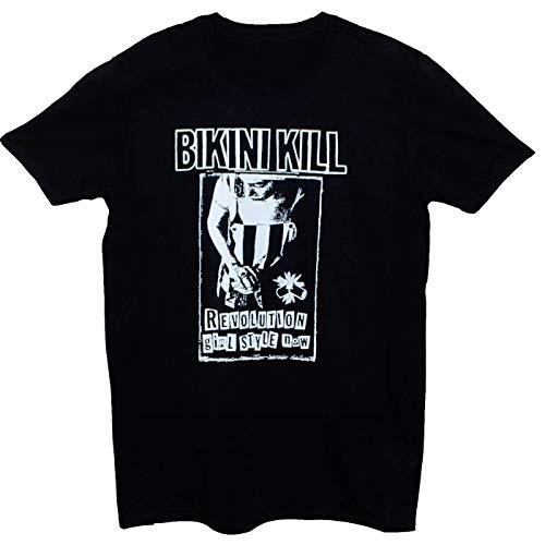 Bikini Kill Punk Rock Riot Grrrl Feminist Cotton Black Men M-3XL T-Shirt T679