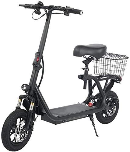 Bicicletta Elettrica Pieghevole Adulto Sede della bici elettrica tripla assorbimento di scossa Velocità massima 43 km / H, 45 km lungo raggio a due ruote batteria for auto con display LCD Bici Elettri