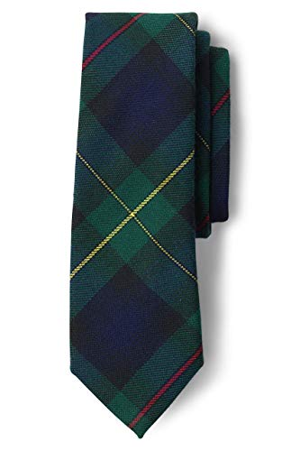 Lands' End Uniform Boys To Be Tied Plaid Tie Hunter/classic Navy Plaid Big Kid No Sz