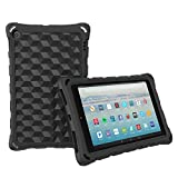 The Best HD 10 Tablet Case for Kids and Adults - Mr.Spades Anti Slip Shockproof Lightweight Protective Covers for All-New HD 10.1' Tablets with Alexa (2015/2017 Model) - Black