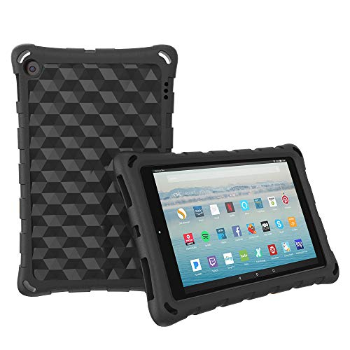 """The Best HD 10 Tablet Case for Kids and Adults - Mr.Spades Anti Slip Shockproof Lightweight Protective Covers for All-New HD 10.1"""" Tablets with Alexa (2015/2017 Model) - Black"""