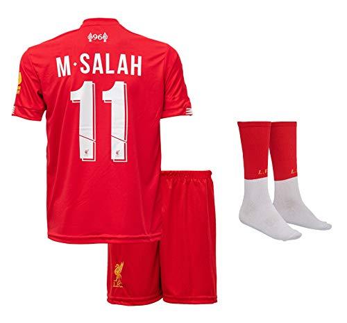 Liverpool M.Salah 2019/20 Heim Trikot und Shorts Kinder und Jugend Größe (140-7-8 Jahre, Heim)