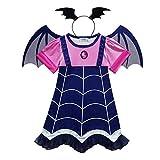 Mengzhen - Costume da vampiro per bambine, per Halloween, cosplay, feste, come da immagine., 110 cm