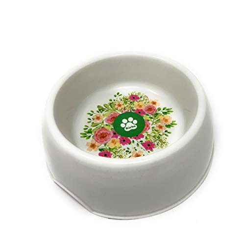 Kirba Hundenapf Bambus - Hochwertiger Futternapf für Ihren Hund - Hübscher Napf aus Bambusfaser für Hund & Katze - Dog Bowl Bamboo Fiber (M)