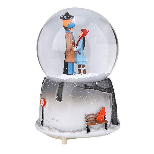 Yosoo Schneekugel Musikalische Neuheit Nachtlicht Musikalische Schneekugel Spieluhr Desktop Ornament Tochter Kind Belohnung Familienspielzeug feiern