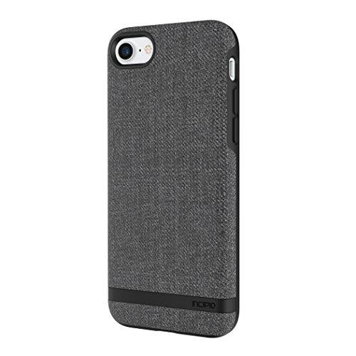 Incipio [Esquire Series] Carnaby Schutzhülle für Apple iPhone 7 / 8 in grau [Oberfläche aus Baumwolle | Robuste Hartschale | Edle Optik | Hybrid] - IPH-1485-CGY