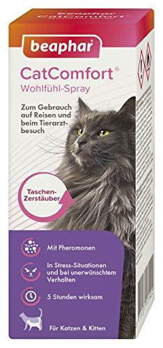 beaphar CatComfort Wohlfühl-Spray, Beruhigungsmittel für Katzen mit Pheromonen, 30 ml