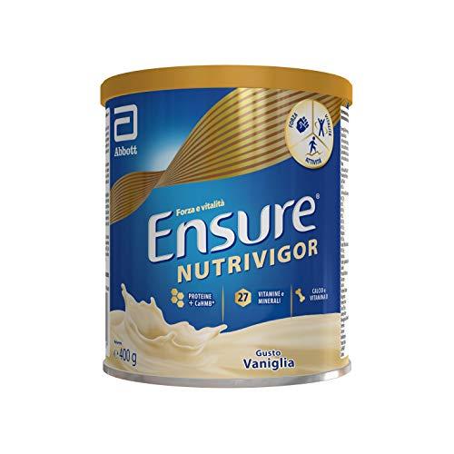 Ensure NutriVigor Integratore in Polvere, Multivitaminico Multiminerale con 27 Vitamine e Minerali , Integratore Alimentare con Proteine, Calcio e HMB , Confezione 400 g , Gusto Vaniglia