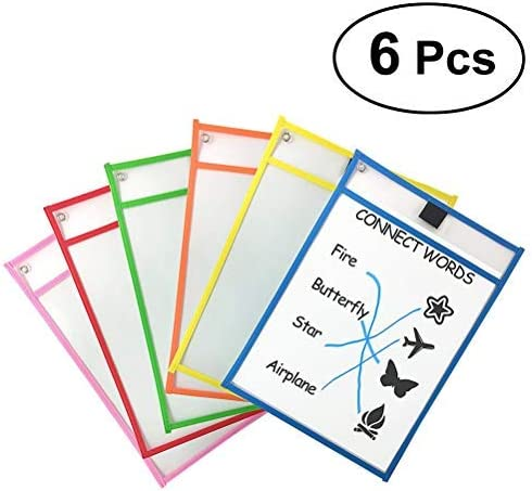 Genuine Free Shipping TOYMYTOY Resuable Dry Erase Pockets Sheet Plastic Ass Protectors Limited price