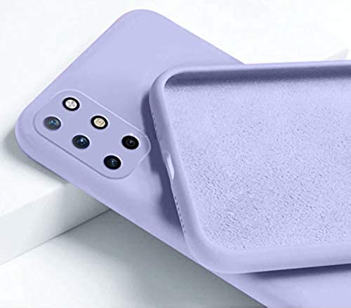 Mobistyle Soft Silicone Slim Matte Liquid Silicone TPU Shockproof Slim Back Cover Case for oneplus 8t Purple
