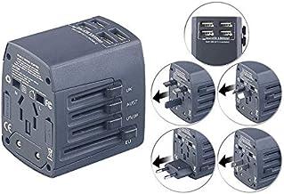 revolt Stromadapter: 3in1-Universal-Welt-Reisestecker mit 4
