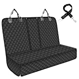 Dog Car Seat Cover for Back Seat, Durable Pet Car Seat Protector with 1 Elastic Dog Seat Belt, Scratch Proof& Waterproof Dog Backseat for Kids Fit All Trucks Cars SUVs
