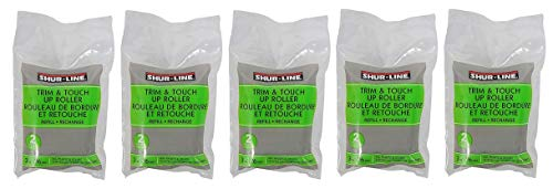 Shur-Line 2007129 3-Inch Trim and Touch Up Roller Refill, Sold as 5 Pack, 10 Rollers Total