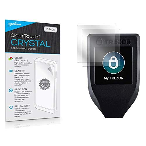 Trezor — Protetor de tela modelo T, BoxWave [ClearTouch Crystal (pacote com 2)] Película HD – Protege contra arranhões para Trezor One | Modelo T