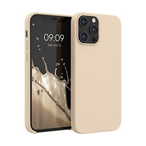 kwmobile TPU Silicone Case Compatible with Apple iPhone 12 Pro Max - Case Slim Protective Phone Cover with Soft Finish - Mother of Pearl