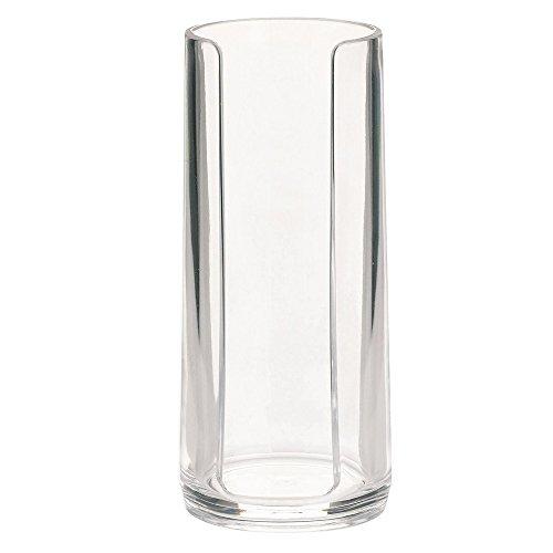 kela 18488 Distributeur Coton à démaquiller Clear en Acrylique Transparent, Plastique, 7,5 x 7,5 x 17 cm