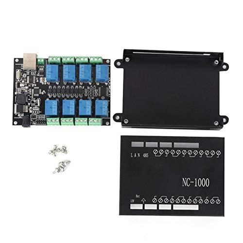 Controllore logico programmabile NC-1000 Scheda di controllo PLC a 8 canali per telecomando WiFi(Black shell)