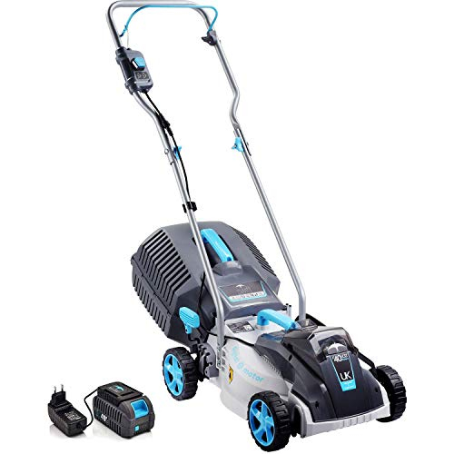 swift EB132CP2 40V Cordless LawnMower, 32cm Cutting Width Lightweight Battery Rotary Lawn Mower with 30 Litre Grass Box, Central Height Adjust & Foldable Handles (Battery & Charger Included)