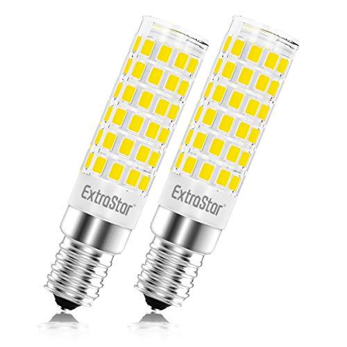 Lampadina LED E14, 5W (equivalenti a 40 W),6500K,luce bianco freddo,base in ceramica, piccola vite non dimmerabile per cappa da cucina,Pacco da 2