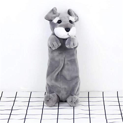 JMCT-DQ Caja de lápiz de Peluche Doll Doll Puppy Regalo Público JMCT-DQ (Color : Schnauzer)