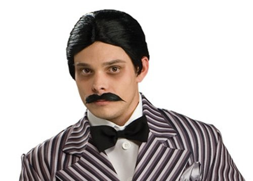 Rubie's Men's The Addams Family Gomez Wig and Mustache Kit, One Size