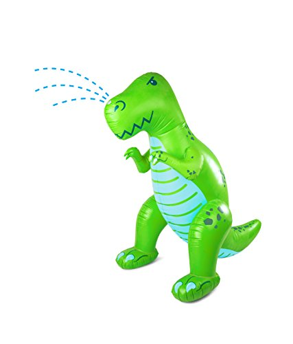 BigMouth Inc. Ginormous Inflatable Dinosaur Yard Summer Sprinkler, Stands Over 6 Feet Tall, Perfect Dinosaur for Summer Fun