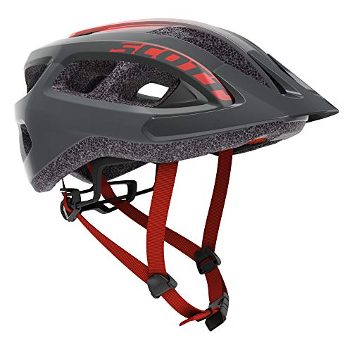 Scott Supra 2021 - Casco para bicicleta de montaña (54-61 cm), color gris y roj