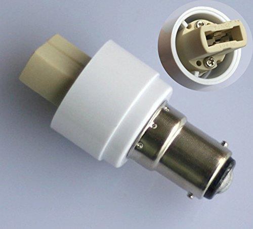 2x B15 B15D / BA15D Adapter auf G9 Sockel Converter für Halogen LED Stiftsockel