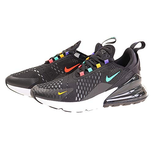 Nike W Air Max 270, Scarpe da Trail Running Donna, Multicolore (BlackFlash CrimsonUniversity Gold 023), 38.5 EU