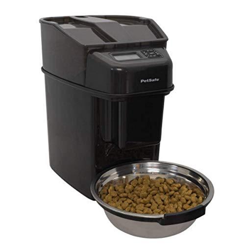PetSafe Healthy Pet Simply Feed Futterautomat, Programmierbarer Futterautomat für Katze und Hund, Automatischer Futterspender, 12 Mahlzeiten, 5,6 Liter Trockenfutter, LCD Bildschirm, Inklusive Napf