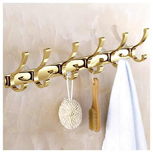 Perchero de Metal Moderno montado en la Pared, Superficie Dorada Perchero Decorativo Perchero, Perchero y toallero para Entrada, Dormitorio, baño D