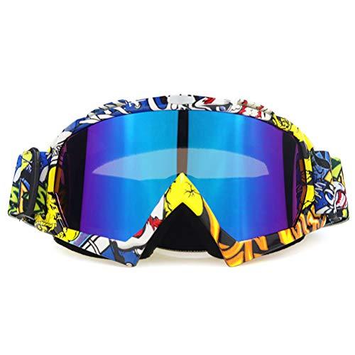 AIJIANG Gafas de motocross, gafas de esquí resistentes al viento, gafas protectoras para hombres, mujeres y jóvenes, para moto Dirt Bike ATV (A)