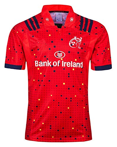 Rugby Jersey 2019 Rugby Jersey Munster City Home Rugby Jersey (Color : A, Size : S)