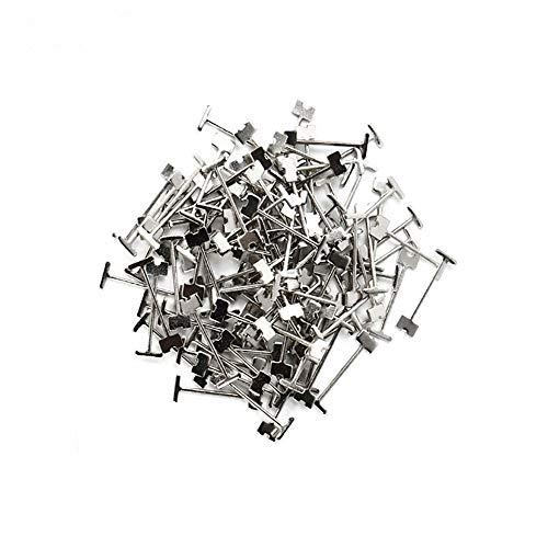 GOZAR Baldosas Nivelación Sistema Equipo Reutilizable Azulejos Nivelador Espaciador Llave Acero Repuesto Pin Loseta Arrasamiento Ajustar Herramienta-50Pcs 1,5 mm Agujas