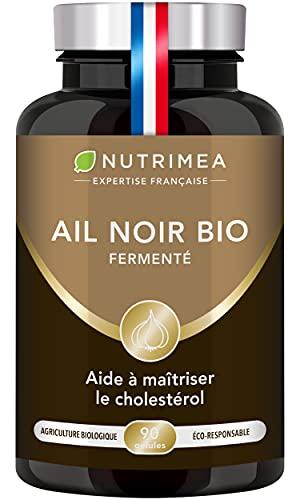 AIL NOIR Fermenté BIO - Extrait BREVETÉ Standardisé en S-allyl-cystéine - Soutient la Circulation Sanguine, Antioxydant Naturel - 250 mg - 90 Gélules Vegan - Nutrimea - Fabriqué en France