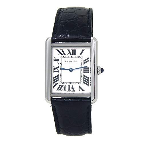 Cartier Tank Solo WSTA0028 - Reloj analógico de cuarzo para mujer, certificado