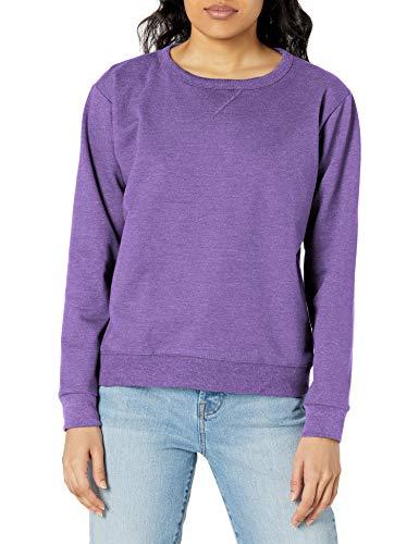 Hanes Women's EcoSmart Crewneck Sweatshirt, Violet Splendor Heather, Large