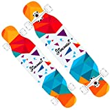 MKJYDM Scooter Maple Long Board Brush Street Dance Board Cuatro Ruedas Doble patineta Principiante Teen Boy Girl Profesional Skateboard (con Flash Wheel) patineta (Color : B)