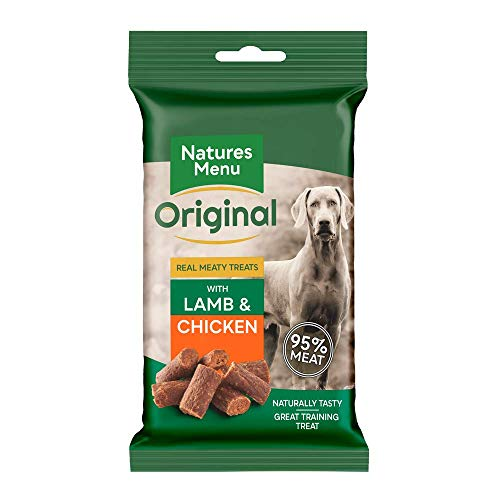 Natures Menu Real Meaty Dog Treats with Lamb and Chicken (12 x 60g)