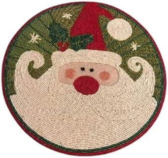 HM Creations Nashville-Davidson Mall Beaded Christmas Santa Tab Mats Rustic supreme Table Design