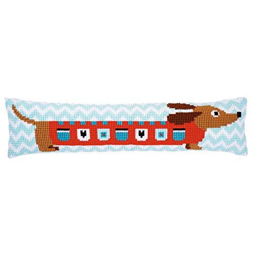 """Vervaco PN-0158069 Hund Kreuzstich Zugluftstopper vorbezeichnet, Baumwolle, mehrfarbig, ca. 80 x 20 cm / 32\"""" x 8\"""""""