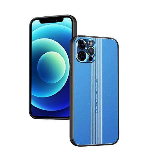 SULIAN Funda para iPhone 12 Pro, Ultra Fina Suave TPU Bumper Montaje Magnético Funda para iPhone 12 Pro 6.1' - Azul