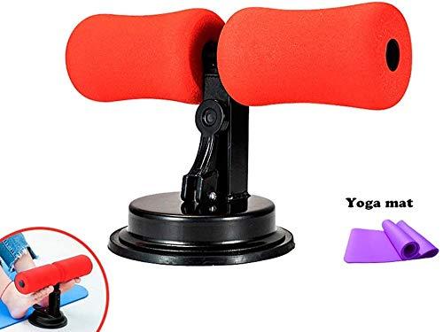 Sit Up Bar bijgewerkt ontwerp Draagbare verstelbare Sit-up Piano Bar Zelfaspiratie Spiertraining Lichaamstraining Body stretching apparatuur met 4 zuignappen voor werk thuis of op de weg (Kleur: blauw B)
