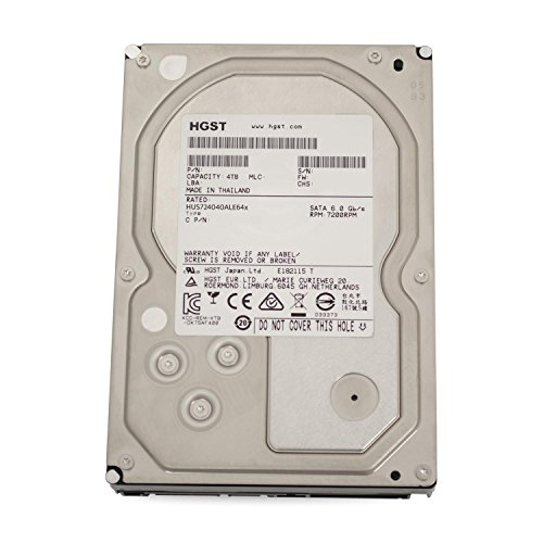 Hitachi HGST Ultrastar 7K4000 interne Festplatte, 3,5 Zoll / 8,9cm, SATA, 7200RPM für NAS RAID 24x7 Enterprise, Kapazität:4.000GB (4TB) (Generalüberholt)
