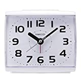 FAMICOZY Analogue Alarm Clock for Elderly,Quiet Non Ticking with Snooze and Backlight,Crescendo Loud