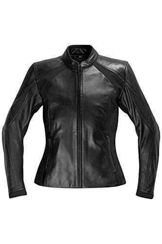 Difi DIAMOND Motorradjacke Leder Damen Farbe schwarz, Größe 36