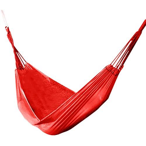 Fiosoji Hamaca de Camping,190X130cm,Ancho Grueso Lienzo Hamaca portátil Hamaca al Aire Libre al Aire Libre Acampar Columpio jardín Colgante