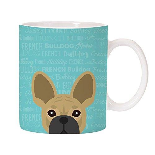 Adorable Dog Breed Design 11oz Ceramic Coffee Mug (French Bulldog)