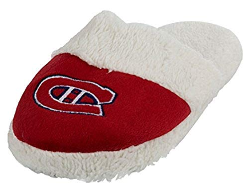 Forever Collectibles NHL Montreal Canadiens Womens Sherpa Slide Slippers - Small