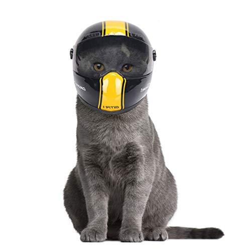 NICEWL Pet Helm Hund, Kleines Haustier Katze Hut Sicherheit Radfahren Radfahren, Foto Requisiten Schützen Haustier Outdoor Caps Zubehör, Gelb